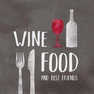 Servetten tekst wine food 33x33