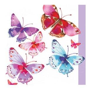 Servetten vlinders aquarel 33x33