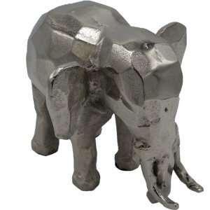 Colmore ornament colmore olifant nikkel 18cm detail