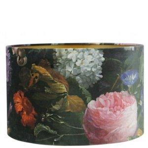 Lampenkap bloemenprint velvet cilinder TVIV00