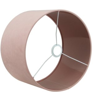 Lampenkap roze velvet cilinder TSR04TR detail