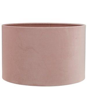 Lampenkap roze velvet cilinder TSR04TR