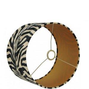 Lampenkap zebra velvet cilinder TSV16G detail