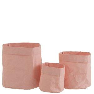 Plantenzak roze craft set van 3