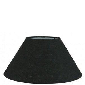 Lampenkap zwart linnen schuin TLN20