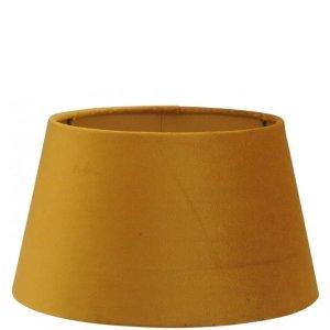 Lampenkap geel velvet 20x12