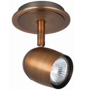 Spot brons Ovale 1 lichts