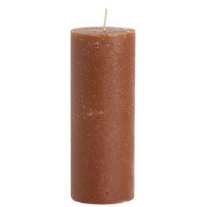 Stompkaars rustiek bruin 7x20cm-terracotta