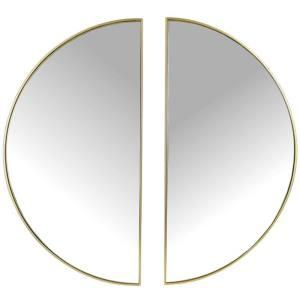 Spiegel goud metaal rond 40cm