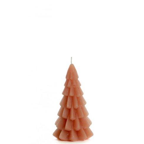 Kerstboom kaars brique 6x12cm