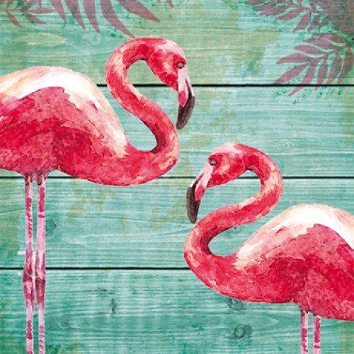 Servetten summer flamingos 33x33