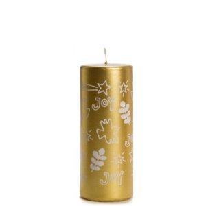 Stompkaars kerst Joy goud 6x15cm