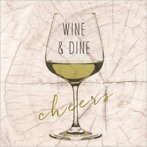 servetten wine en dine white 33x33