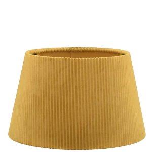 Lampenkap geel rib velours halfhoog TQU05