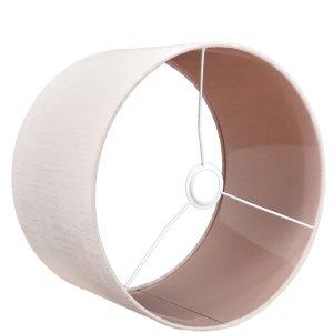 Lampenkap pastelroze velours cilinder TON51 detail
