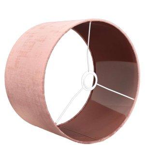 Lampenkap roze velours cilinder TON04 detail