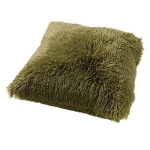 Sierkussen groen Calliste fluffy 45x45 detail
