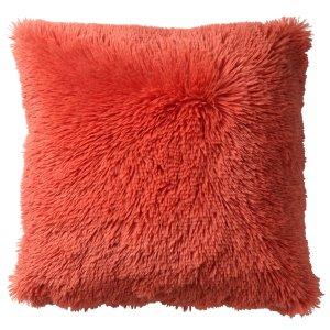 Sierkussen oranje coral fluffy 45x45