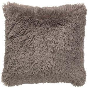 Sierkussen taupe fluffy 45x45