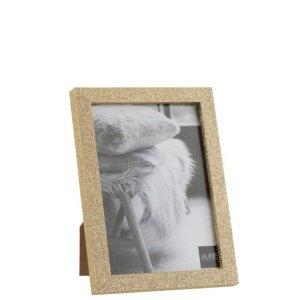 fotolijst goud glitter hout 18cm