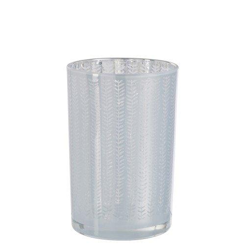 Waxinelichthouder wit Sarah 18cm