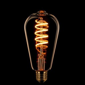 Lichtbron LED Edison spiraal goud dimtone detail