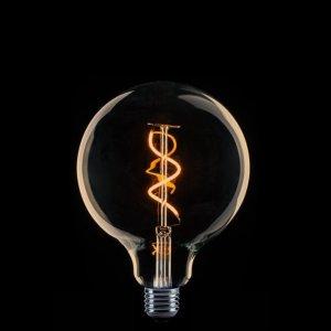 Lichtbron LED Globe 125mm spiraal goud 2W