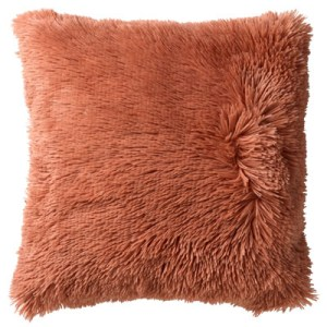 Sierkussen oranje clay Fluffy 60x60cm
