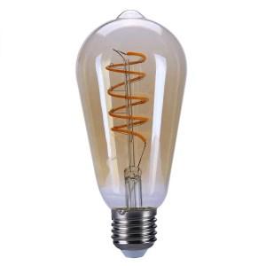 Lichtbron LED Edison spiraal amber 9W dimbaar