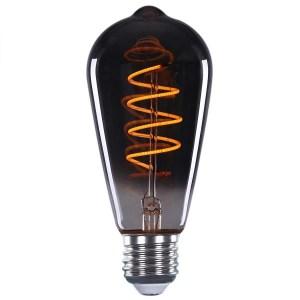 Lichtbron LED Edison spiraal rookglas scene switch