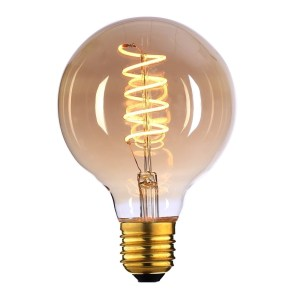 Lichtbron LED Globe 95mm spiraal amber scene switch