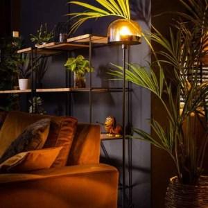 Vloerlamp amber Dopp 150cm sfeer