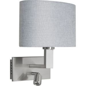 Highlight Wandlamp + led zilver-grijs New oval W3515.37