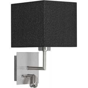 Highlight Wandlamp + led zilver-zwart Hotel W3507.01