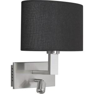 Highlight Wandlamp + led zilver-zwart New oval W3515.01