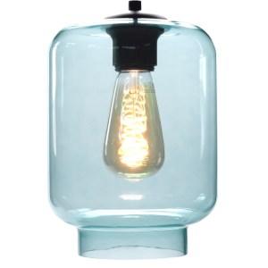Lampenkap glas blauw Vaso 17cm