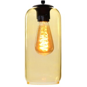 Lampenkap glas geel Jack 12cm