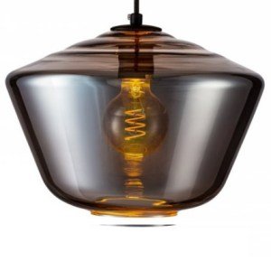 Lampenkap glas smoke Carlton 30cm detail