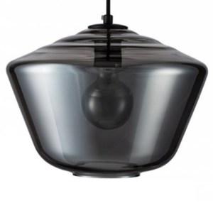 Lampenkap glas smoke Carlton 30cm