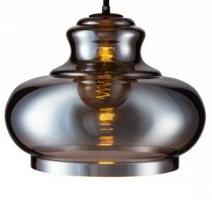 Lampenkap glas smoke Majestic 35cm detail