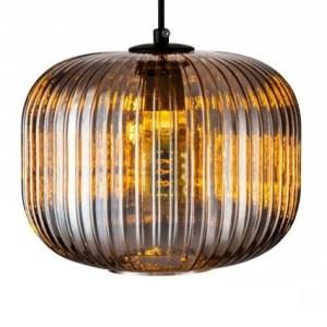Lampenkap glas smoke Rosewood 25cm detail