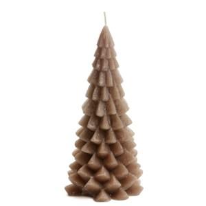 Kerstboom kaars cognac 10x20cm