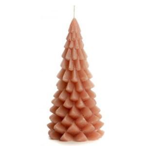 Kerstboom kaars brique 10x20cm