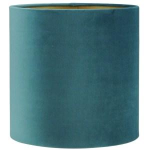 Lampenkap blauw ocean velvet cilinder 15x15x15cm