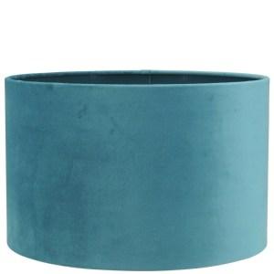 Lampenkap blauw ocean velvet cilinder 30x30x20cm