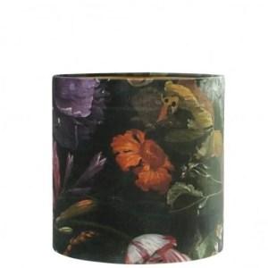 Lampenkap bloemenprint Vincent cilinder 20x20x20cm