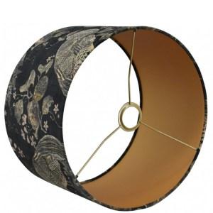 Lampenkap pauw brons velvet cilinder detail