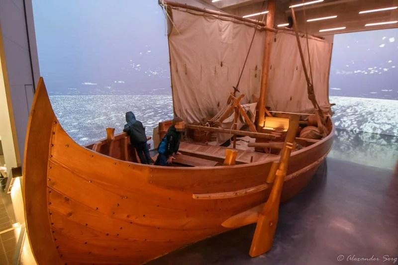 Wikingerschiff Modell Simulation