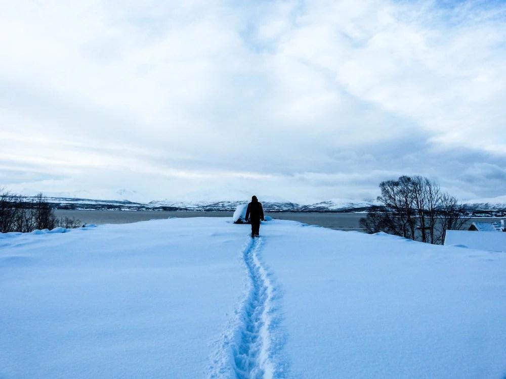 Winterlandschaft Schnee in Tromsø