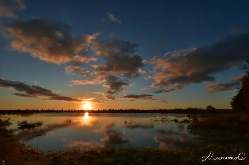 Sonnenuntergang Dänemark Meermond